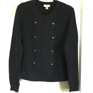 LOFT Sweater/Jacket, Zipper, Navy, Medium